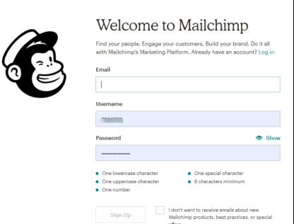 配置mailchimp账户