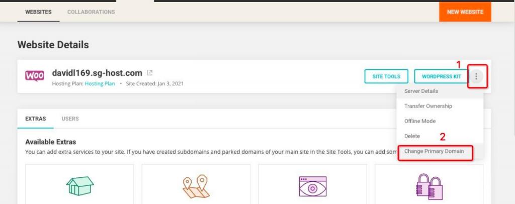 siteground删除临时域名