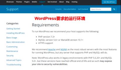 本地环境安装Wordpress环境要求
