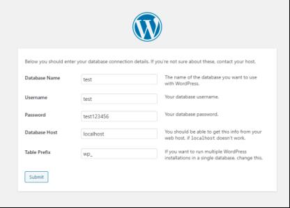 本地环境安装Wordpress链接数据库
