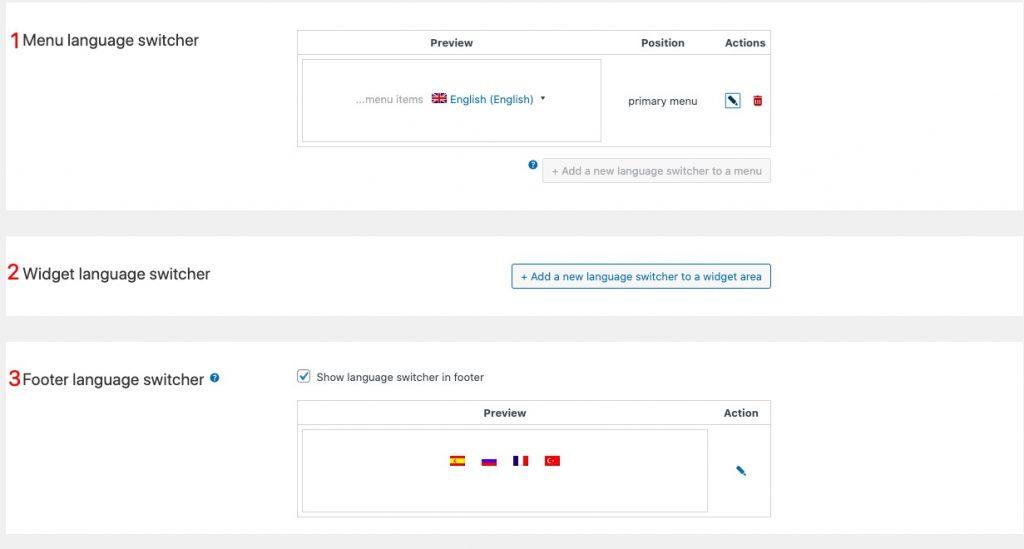 wpml设置语言转换按钮的位置